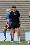 21 August 2015: Duke assistant coach Carla Overbeck. The Duke University Blue Devils played the Fresno State Bulldogs at Fetzer Field in Chapel Hill, NC in a 2015 NCAA Division I Women's Soccer game. Duke won the game 5-0.
