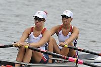 Amsterdam, NETHERLAND, USA BW 2X. 2011 FISA U23 World Rowing Championships, Thursday, 21/07/2011 [Mandatory credit:  Intersport Images].