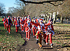 Santa Dash <br /> in aid of Great Ormond Street Hospital<br /> Clapham Common, London, Great Britain <br /> 4th December 2016 <br /> <br /> Photograph by Elliott Franks <br /> Image licensed to Elliott Franks Photography Services
