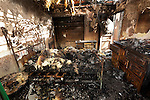 burned out bedroom