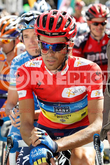 Alberto Contador before the stage of La Vuelta 2012 beetwen Aguilar de Campoo-Valladolid.September 6,2012. (ALTERPHOTOS/Paola Otero) /NortePhoto.com<br /> <br /> **CREDITO*OBLIGATORIO** <br /> *No*Venta*A*Terceros*<br /> *No*Sale*So*third*<br /> *** No*Se*Permite*Hacer*Archivo**<br /> *No*Sale*So*third*