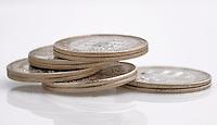 Monedas Colombianas. Colombian Coins. Photo: VizzorImage/ Gabriel Aponte / Staff