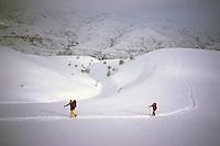 Ascent of Mount Teksar (2898 m), Armenia, February 2014.