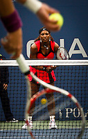 New York, United States, September 11, 2011..Samantha Stosur of Australia and Serena Williams of the United States compete during the women's final of the U.S. Open tennis tournament in New York. September 11, 2011. VIEWpress / Eduardo Munoz Alvarez.