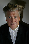 LOS ANGELES,CA - SEPTEMBER 11,2009: Filmmaker David Lynch photographed at Griffin Gallery in Santa Monica,  September 11, 2009.  David Lynch, who is known for his strange films but went to art school and has pursued a parallel career as a maker of paintings, drawings and photographs. This weekend he is opening an exhibition of new monumental paintings at a gallery in Santa Monica.