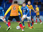 St Johnstone v Partick Thistle....17.01.15  SPFL<br /> Conrad Balatoni closes down David Wotherspoon<br /> Picture by Graeme Hart.<br /> Copyright Perthshire Picture Agency<br /> Tel: 01738 623350  Mobile: 07990 594431