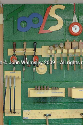 Tool cupboard, Design Technology, Roman Catholic Secondary school.