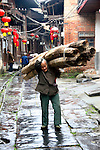 Asia, China, Guangxi, Daxu. Ancient way of life captured on the streets of Daxu in southern China.