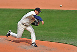 14 September 2008: Cleveland Indians' pitcher Edward Mujica on the mound in relief against the Kansas City Royals at Progressive Field in Cleveland, Ohio. The Royal defeated the Indians 13-3 to take the 4-game series three games to one...Mandatory Photo Credit: Ed Wolfstein Photo