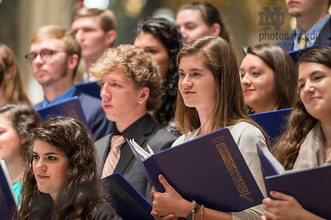 Oct. 9, 2015; Notre Dame Folk Choir and Celebration Choir 'Concert for the Missions,' a benefit for Holy Cross missions in Africa. (Photo by Matt Cashore/University of Notre Dame)
