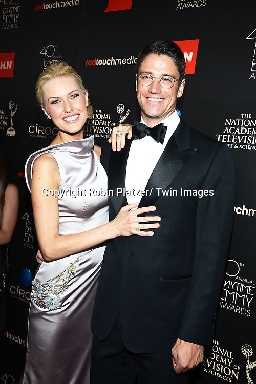 James Scott and girlfriend Kaitlin Robinson attend The 40th Annual Daytime Emmy Awards on<br />  June 16, 2013 at the Beverly Hilton Hotel in Beverly Hills, California.