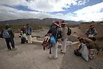 Pilgrimage of Native Wixaricas to their sacred place of Wirikuta, February 5, 2012. The scene is at Mastranto prior to climbing to the Cerro Quemado in San Luis Potosi state. Photo by Heriberto Rodriguez