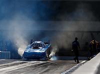 Sep 18, 2016; Concord, NC, USA; NHRA funny car driver John Force during the Carolina Nationals at zMax Dragway. Mandatory Credit: Mark J. Rebilas-USA TODAY Sports