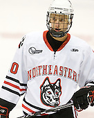 Luke Eibler (Northeastern - 20) - The visiting Niagara University Purple Eagles defeated the Northeastern University Huskies 4-1 on Friday, November 5, 2010, at Matthews Arena in Boston, Massachusetts.