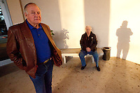 Self portrait with my dad, Jerry Kramer, and former Green Bay Packers running back and NFL MVP Paul Hornung at the New Orleans Fair Grounds during Super Bowl week in 2012.