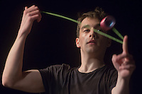 Daniel Tamariz-Martel of Spain competes during the Yoyo European Championships in Budapest, Hungary on February 24, 2013. ATTILA VOLGYI