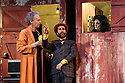 "Eat A Crocodile presents ""Shake"" an adaption, in French, of William Shakespeare's ""Twelfth Night"", at the Royal Lyceum, as part of Edinburgh International Festival 2016. Picture shows: Geoffrey Carey (Feste), Vincent Berger (Sir Toby), Valerie Crouzet (Olivia)"