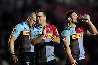 Dave Ward of Harlequins acknowledges the crowd after the match. Aviva Premiership match, between Harlequins and Sale Sharks on November 6, 2015 at the Twickenham Stoop in London, England. Photo by: Patrick Khachfe / Onside Images