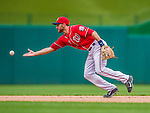 22 September 2013: Washington Nationals infielder Steve Lombardozzi in action against the Miami Marlins at Nationals Park in Washington, DC. The Marlins defeated the Nationals 4-2 in the first game of their day/night double-header. Mandatory Credit: Ed Wolfstein Photo *** RAW (NEF) Image File Available ***