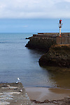 Biarritz at low tide, Port des pecheurs, Pays Basque, France