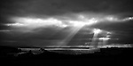 B&W was the only choice to catch this dramatic light over the English Channel