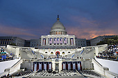 Dawn breaks over  the Capitol as America prepares for the inauguration of President-elect Donald Trump on January 20, 2017 in Washington, D.C.  Trump becomes the 45th President of the United States.     <br /> Credit: Pat Benic / Pool via CNP