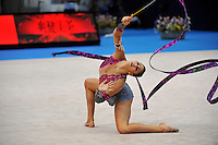 September 9, 2009; Mie, Japan;  Julie Zetlin of USA performs  with ribbon at 2009 World Championships Mie. Photo by Tom Theobald.