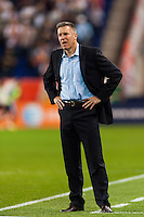Sporting Kansas City manager Peter Vermes. Sporting Kansas City defeated the New York Red Bulls 1-0 during a Major League Soccer (MLS) match at Red Bull Arena in Harrison, NJ, on April 17, 2013.