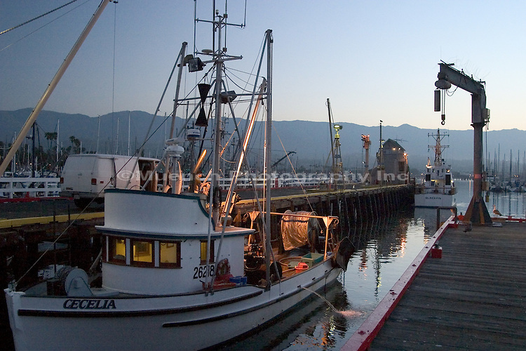 Fishing Boat Santa Barbara Harbor Muench Photography