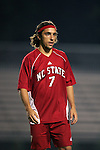 NC State's Ernesto Di Laudo, of Argentina, on Friday, October 21st, 2005 at Koskinen Stadium in Durham, North Carolina. The Duke University Blue Devils defeated the North Carolina State University Wolfpack 6-0 during an NCAA Division I Men's Soccer game.