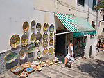 Gift Sale, Handmade Ceramics, Ravello, Amalfi Coast, Campania, Italy, Europe, World Heritage Site