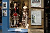 John Morrison kiltmaker's shop in Edinburgh's Royal Mile.