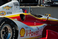 20-21 Febuary, 2012 Birmingham, Alabama USA.Helio Castroneves on pit lane.(c)2012 Scott LePage  LAT Photo USA