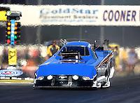 Nov 11, 2016; Pomona, CA, USA; NHRA funny car driver Gary Densham during qualifying for the Auto Club Finals at Auto Club Raceway at Pomona. Mandatory Credit: Mark J. Rebilas-USA TODAY Sports