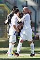 "(L-R) Yuto Nagatomo, Esteban Cambiasso (Inter), APRIL 14, 2013 - Football / Soccer : Esteban Cambiasso of Inter is replaced by Yuto Nagatomo during the Italian ""Serie A"" match between Cagliari 2-0 Inter Milan at Stadio Nereo Rocco in Trieste, Italy. (Photo by Enrico Calderoni/AFLO SPORT)"