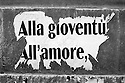 Torn Images.<br /> European Election 1999. Layers of poster on the streets of Rome.