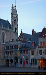 Basilica of the Holy Blood at Dawn, 12th-15th century, Burg Square, Bruges, Brugge, Belgium