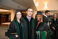 Naiara Barbosa, Alberto Gutierrez, Stell Patadji, from left. Commencement class of 2013.