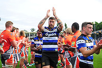 Matt Banahan of Bath Rugby acknowledges the crowd after the match. Aviva Premiership match, between Bath Rugby and Newcastle Falcons on September 10, 2016 at the Recreation Ground in Bath, England. Photo by: Patrick Khachfe / Onside Images