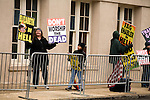 December 11, 2010. Raleigh, NC.. Members of the Kansas based Westboro Baptist Church picketed down the street form the funeral of Elizabeth Edwards.. A funeral was held at the Edenton Street United Methodist Church to honor the life of Elizabeth Edwards, the estranged wife of former Democratic presidential candidate John Edwards, who died after an 6 year battle with breast cancer..