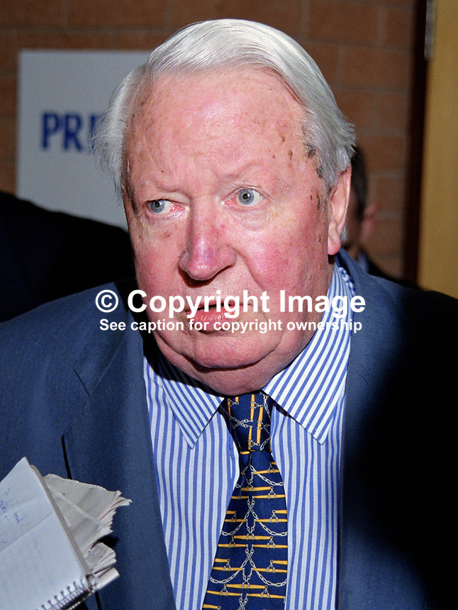 Edward Heath, MP, ex-Prime Minister, Conservative Party,  UK, 199810194.<br />