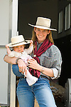 Crystalin Chrisensen with her daughter, Caden, Jordan Valley Big Loop Rodeo..