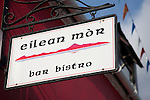 Eilean Mor Bar Sign on the Isle of Arran, Scotland