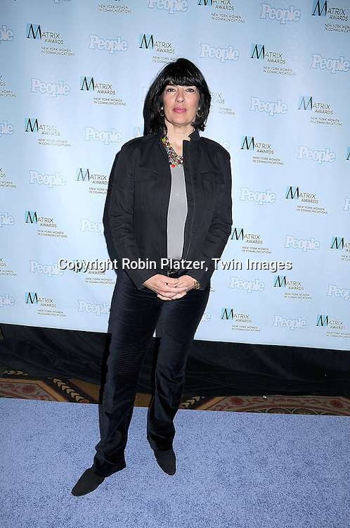 Christiane Amanpour.posing for photographers at The 2008 Matrix Awards on .April 7, 2008 at The Waldorf Astoria Hotel in New York. Susan Gianinno, Anna Deavere Smith, Robin Roberts, Ruth Reichl, Linda Greenhouse, Joannie Danielides, Anne Sweeney and Diane Von Furstenberg were the honorees. ..Robin Platzer, Twin Images