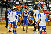 Damien Ekenasio in action during the NBL - Wellington Saints v Nelson Giants at TSB Bank Arena, Queens Wharf, Wellington, New Zealand on Friday  2 May 2014. <br /> Photo by Masanori Udagawa. <br /> www.photowellington.photoshelter.com.