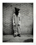 Political activist protesting the GITMO detention center. Polaroid Portraiture and Reportage from the 2008 Political Conventions