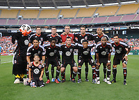 DC United team photo.  Seattle Sounders defeated DC United 1-0 at RFK Stadium, Thursday July 15, 2010.