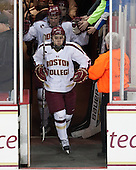 Johnny Gaudreau (BC - 13) - The University of Massachusetts Lowell River Hawks defeated the Boston College Eagles 4-2 (EN) on Tuesday, February 26, 2013, at Kelley Rink in Conte Forum in Chestnut Hill, Massachusetts.
