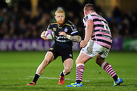 Tom Homer of Bath Rugby in possession. European Rugby Challenge Cup match, between Bath Rugby and Cardiff Blues on December 15, 2016 at the Recreation Ground in Bath, England. Photo by: Patrick Khachfe / Onside Images