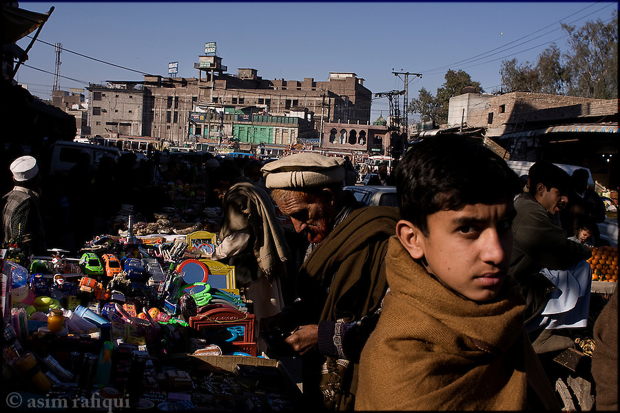 peshawar bazaar scene - afghan and tribal pakistani's define the business and economic sectors of this frontier city